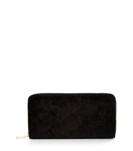Black Velvet Purse | New Look