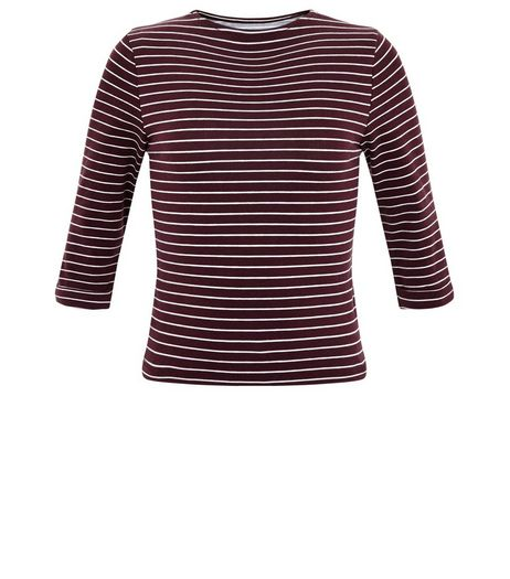 Girls Red Stripe Crew Neck Top | New Look