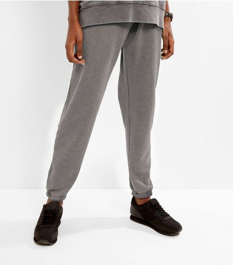 Dark Grey Burnout Joggers | New Look