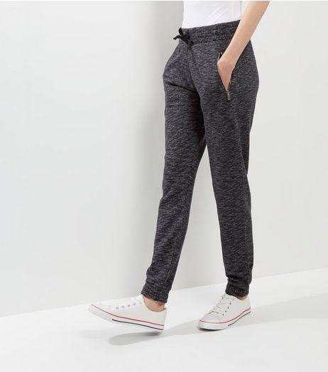 Dark Grey Zip Pocket Joggers | New Look