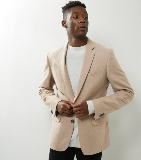Camel Button Front Blazer | New Look