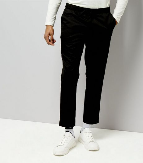 Black Smart Jogger Trousers  | New Look