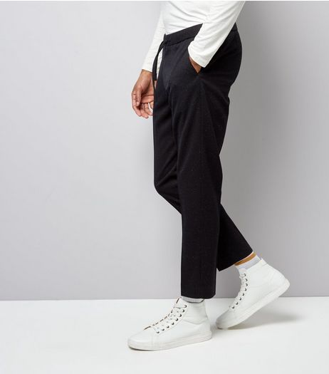 Navy Marl Tailored Joggers | New Look