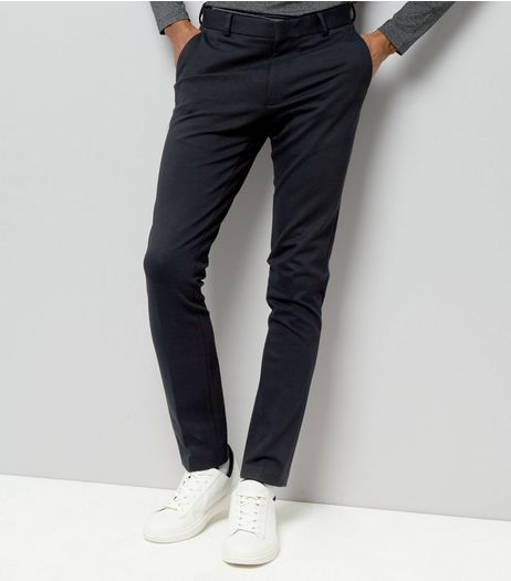 Navy Tailored Skinny Jersey Joggers | New Look