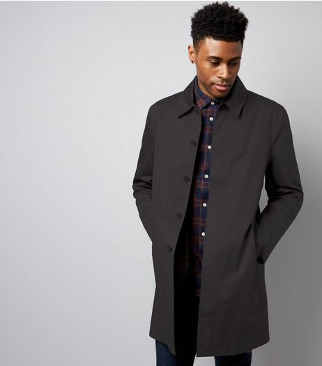 Dark Grey Single Breasted Trench Coat | New Look