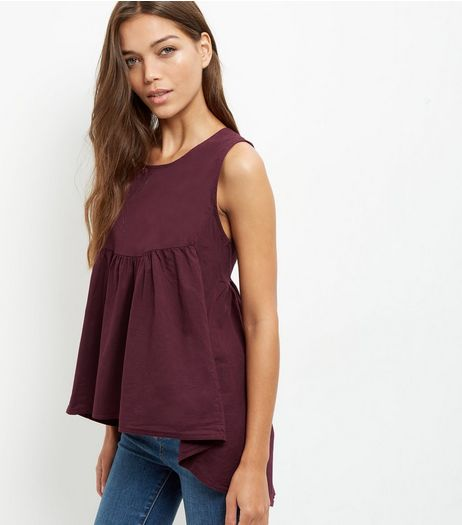Loving This Burgundy Sleeveless Top  | New Look