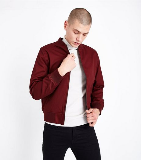 Rust Cotton Bomber Jacket | New Look