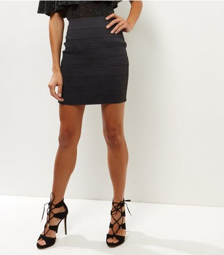 Black Bandage Mini Skirt  | New Look