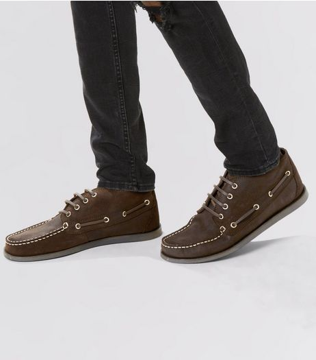 Brown Suede Boat Shoes | New Look