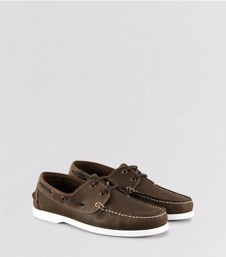 Brown Leather Boat Shoes | New Look