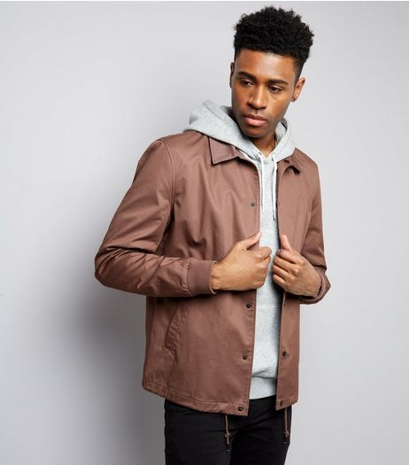 Dark Purple Coach Jacket | New Look