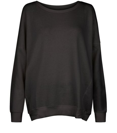 Curves Black Long Sleeve Sweater | New Look