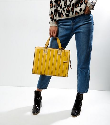 Yellow Panelled Tote Bag | New Look
