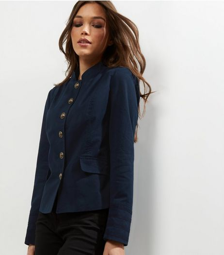 Navy Military Jacket  | New Look