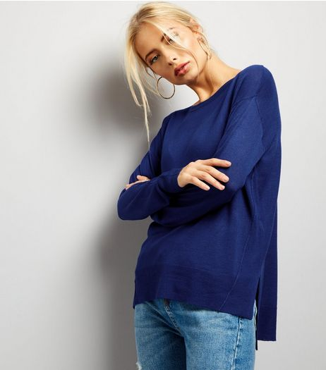 Blue Long Sleeve Jumper  | New Look