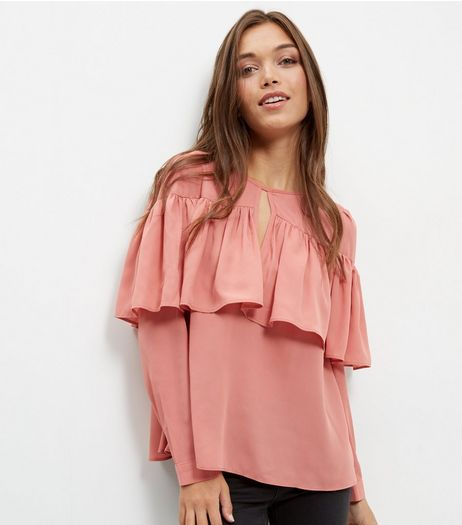 Anita and Green Coral Frill Trim Blouse | New Look
