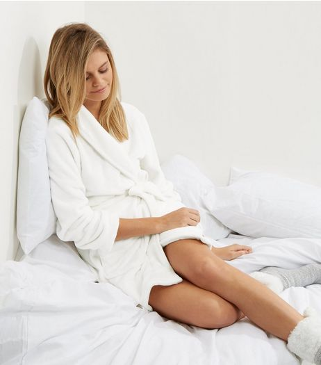 Cream All You Need Is Sleep Slogan Dressing Gown | New Look
