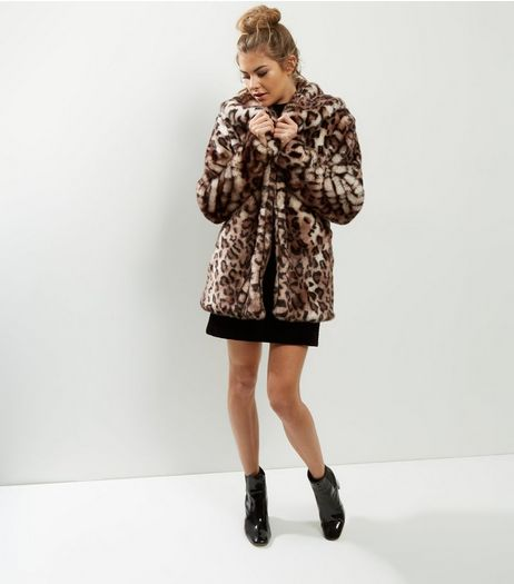 Anita and Green Faux Fur Leopard Print Coat | New Look