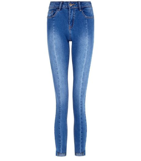 Teens Blue Seam Front Skinny Jeans | New Look