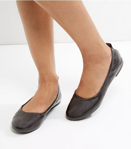 Black Elasticated Pumps | New Look