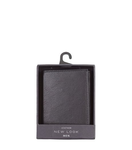 Black Leather Wallet | New Look