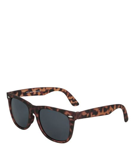 Brown Tortoiseshell Retro Square Sunglasses | New Look