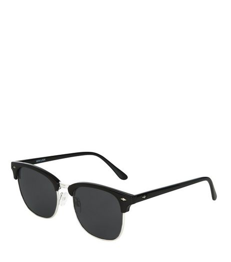 Black Diamond Detail Sunglasses | New Look