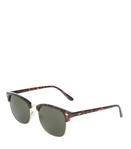 Brown Tortoishell Diamond Detail Sunglasses | New Look