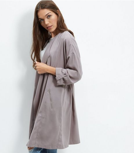 Cameo Rose Waterfall Longline Jacket  | New Look