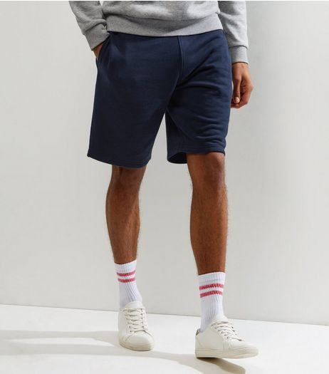 Navy Basic Jersey Shorts | New Look