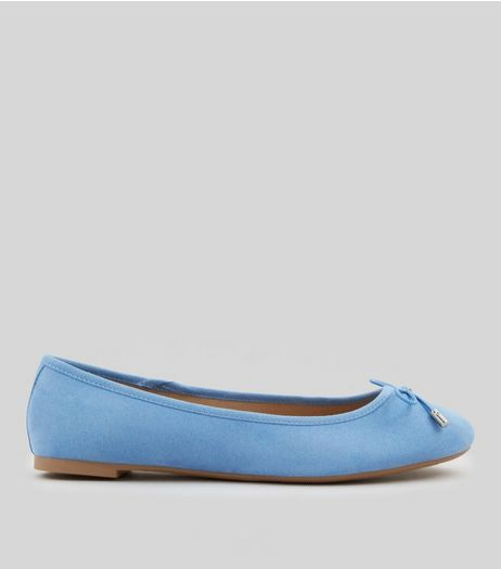 Blue Suedette Ballet Pumps | New Look