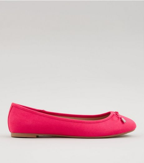 Pink Suedette Ballet Pumps | New Look