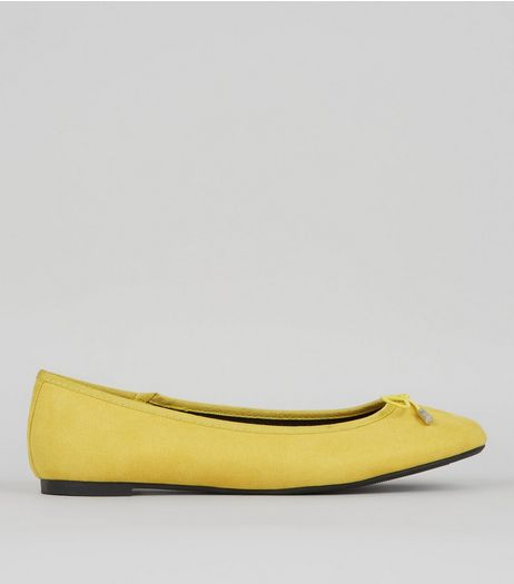 Yellow Ballet Pumps | New Look