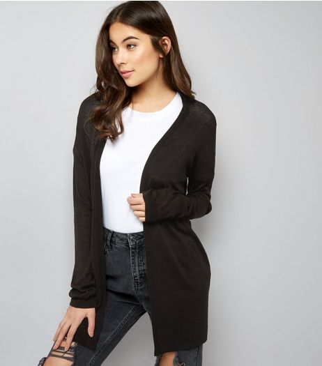 Black Longline Cardigan | New Look