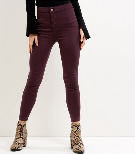 Burgundy Super Skinny Jeans  | New Look