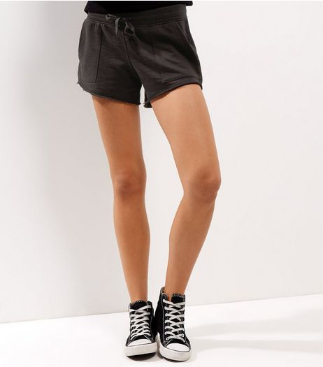 Black Double Pocket Sides Mini Sports Shorts  | New Look