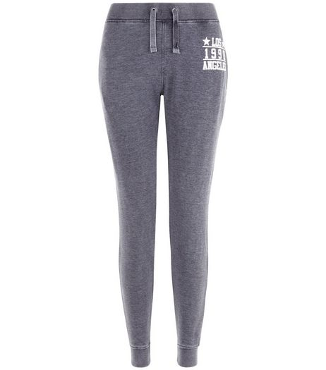Teens Dark Grey Acid Wash 1998 Joggers | New Look