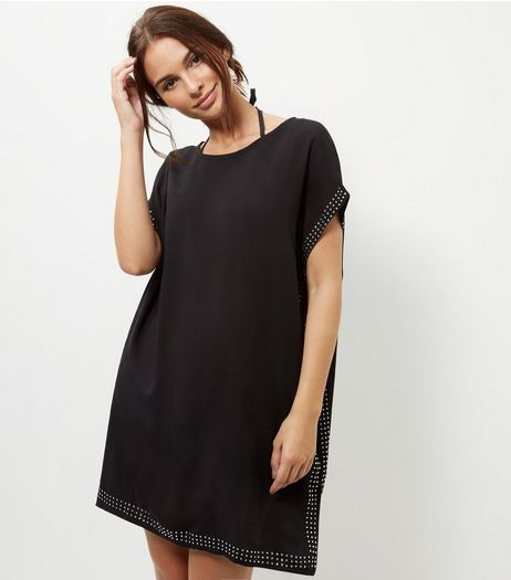 Apricot Black Studded Tunic Dress | New Look