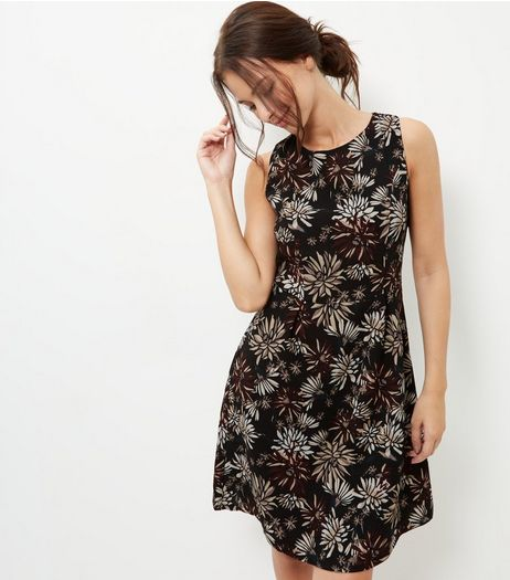 Apricot Crepe Floral Print Dress | New Look