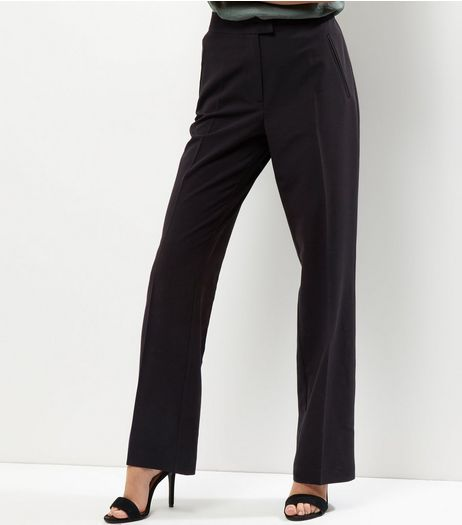 Black Suit Bootcut Trousers | New Look