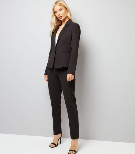 Black Long Slim Leg Trousers  | New Look