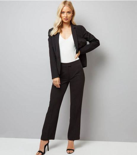 Black Chelsea Bootcut Trousers  | New Look