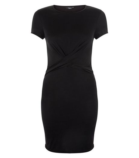 Teens Black Twist Front Bodycon Dress | New Look