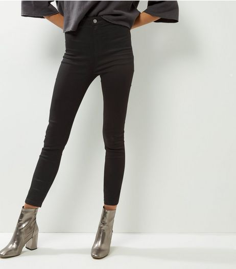 Tall Black High Waisted Super Skinny Jeans | New Look