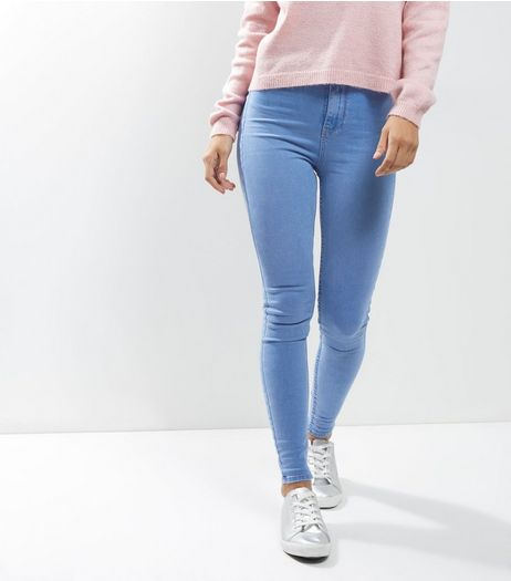 Pale Blue High Waist Super Skinny Hallie Jeans | New Look