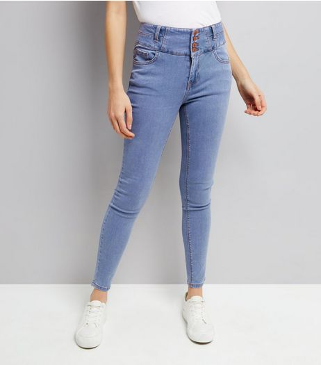 Pale Blue High Waist Skinny Jeans  | New Look