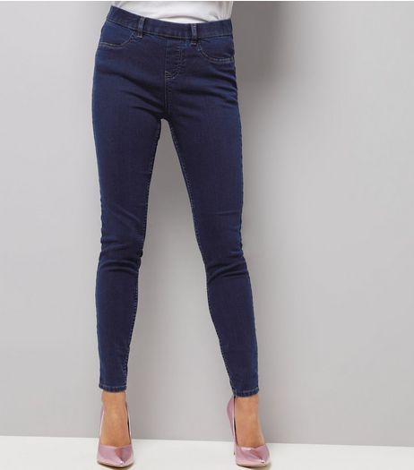 Blue Skinny Emilee Jeggings  | New Look