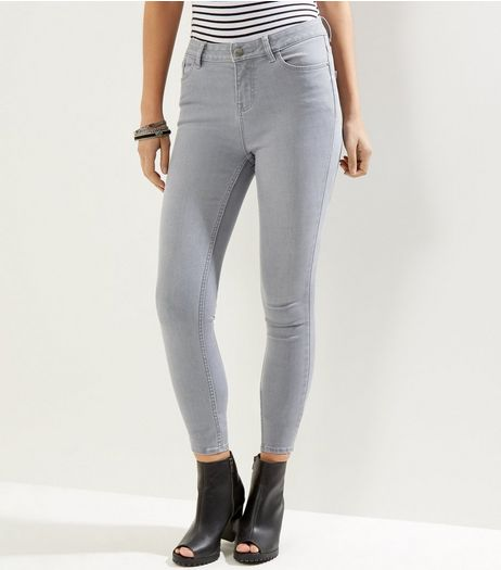 Grey Super Soft Super Skinny India Jeans | New Look