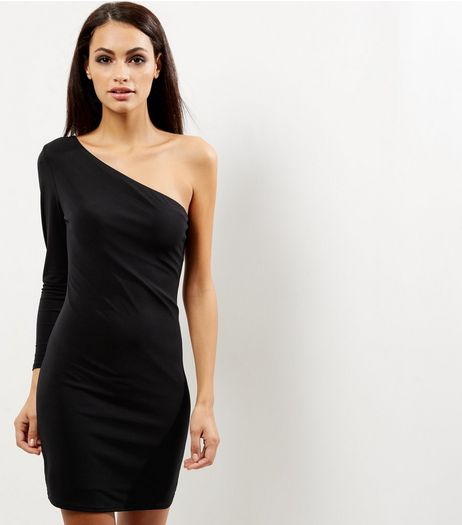 Black Off the Shoulder Bodycon Dress | New Look