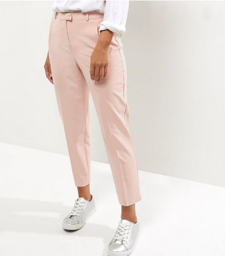 Mid Pink Slim Leg Trousers  | New Look
